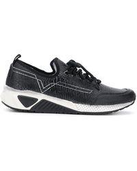 DIESEL - Contrast Low-top Sneakers - Lyst