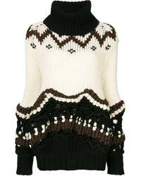 Sacai フェアアイル セーター - ホワイト