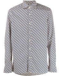Tagliatore Рубашка С Принтом - Многоцветный