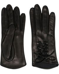 Manokhi Mano Lace-up Short Gloves - Black