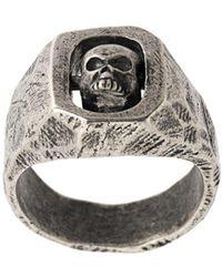 Tobias Wistisen Spinning Skull Ring - Metallic