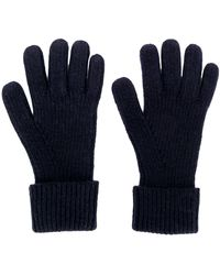 N.Peal Cashmere Ribbed Knitted Gloves - Синий