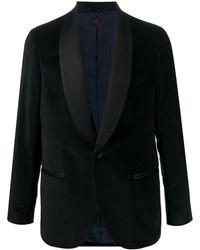 Mp Massimo Piombo ベルベット スモーキングジャケット - ブラック