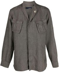 Lardini チェストポケット シャツ - グリーン