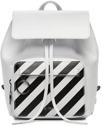Off-White c/o Virgil Abloh - White And Black Diagonal Stripe Leather Backpack - Lyst