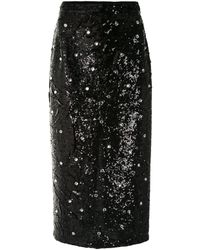 N°21 ビジュートリム ペンシルスカート - ブラック