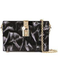 Dolce & Gabbana Box Clutch Met Print - Zwart