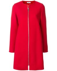 Courreges - Zipped Fitted Coat - Lyst