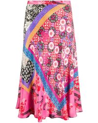 Pinko - Floral-print Slip Skirt - Lyst