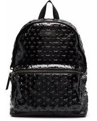 Jimmy Choo Logo Star Stud Backpack - Black