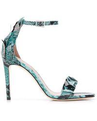 Alberto Gozzi Python Sandals - Green