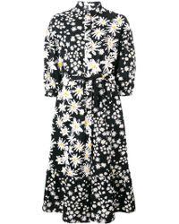 Chinti & Parker フローラル シャツドレス - ブラック