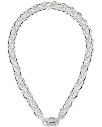 Le Gramme Chunky Maillon Necklace - Metallic