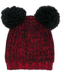 Marni Chinese New Year 2020 Pom-pom Hat - Black