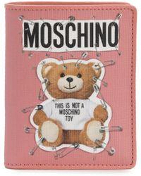 Moschino - Logo Teddy Wallet - Lyst