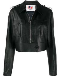 Ports 1961 Cropped Zip-up Jacket - Black