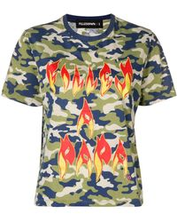 Filles A Papa Fire Printed T-shirt - Многоцветный