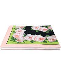 Dolce & Gabbana Floral Print Beach Towel - Black