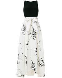 Lauren by Ralph Lauren - Floral Print Flared Dress - Lyst