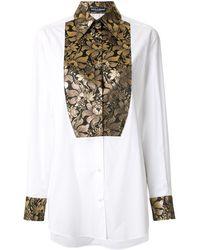 Dolce & Gabbana ブロケード シャツ - ホワイト
