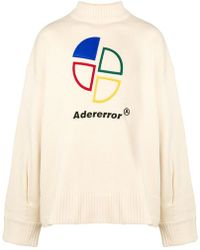 ADER error - Embroidered Logo Jumper - Lyst