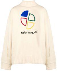 ADER error Embroidered Logo Jumper - Natural