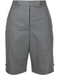Thom Browne High Waist Shorts - Grijs