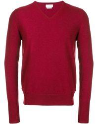Ballantyne Jersey con cuello en V - Rojo