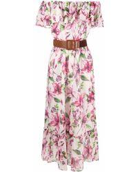 Liu Jo フローラル ドレス - ピンク