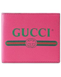 Gucci 二つ折り財布 - ピンク