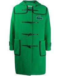 Lacoste Logo-patch Duffle Coat - Green
