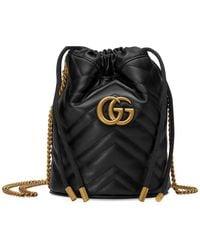 Gucci - GG Marmont 2.0 Beuteltasche mit Kettenriemen - Lyst