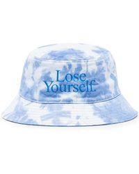 Paco Rabanne X Peter Saville Lose Yourself Tie-dye Bucket Hat - Blue