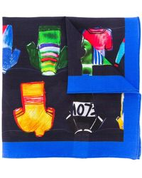 Paul Smith Cycle Jersey Pocket Square - Blue