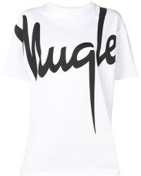 Mugler - Logo T-shirt - Lyst