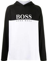 BOSS by Hugo Boss カラーブロック パーカー - ホワイト