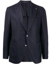 Tagliatore Blazer à design texturé - Bleu
