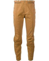 Chloé Biker Cropped Pants - Brown