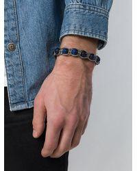 Emanuele Bicocchi Bracelet orné de perles en pierre - Bleu