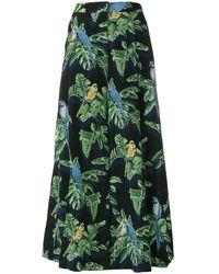 Stella McCartney - Tropical Print Wide-leg Trousers - Lyst