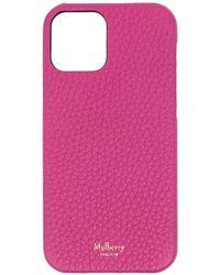 Mulberry Чехол Для Iphone 12 Из Зернистой Кожи - Розовый