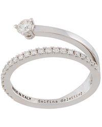 Delfina Delettrez 18kt 'Marry Me' Weißgoldring mit Diamanten - Mettallic
