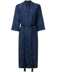 Shanghai Tang バンブージャカード ローブジャケット - ブルー