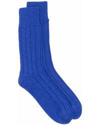 Bottega Veneta Кашемировые Носки В Рубчик - Синий