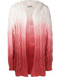 Saint Laurent Faded Effect Cable Knit Cardigan - Multicolour