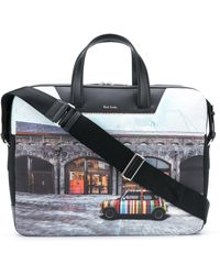 Paul Smith Bolso shopper con motivo de fotografía - Negro