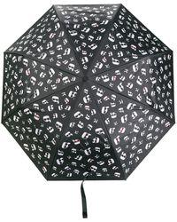 Karl Lagerfeld Ikonik Printed Umbrella - Black
