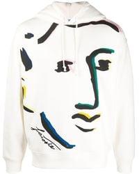 Lacoste Live Face Design パーカー - ホワイト