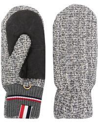 Thom Browne Gestrickte Handschuhe - Grau