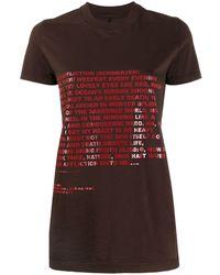 Rick Owens Drkshdw - プリント Tシャツ - Lyst